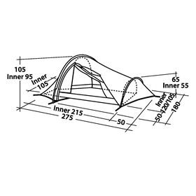 Robens Challenger 2 - Tente tunnel - gris/noir